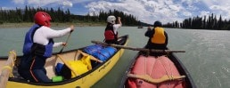 Ɂaq̓amnik youth take to the Kootenay River to learn about water.