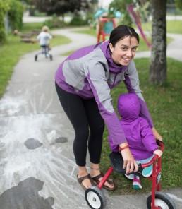 ECE assistant Emily Pfeiffer at Children enjoy Corner Stones Child Care Centre in Revelstoke